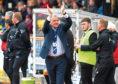 Cove manager John Sheran celebrates at full-time.