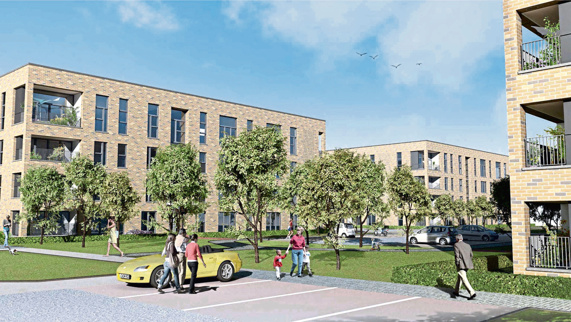An artist's impression shows what the proposed new homes on the former Summerhill site will look like when completed