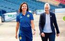 Scotland captain Rachel Corsie and head coach Shelley Kerr.