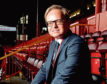 Film director Jon S Baird at his beloved Pittodrie Stadium