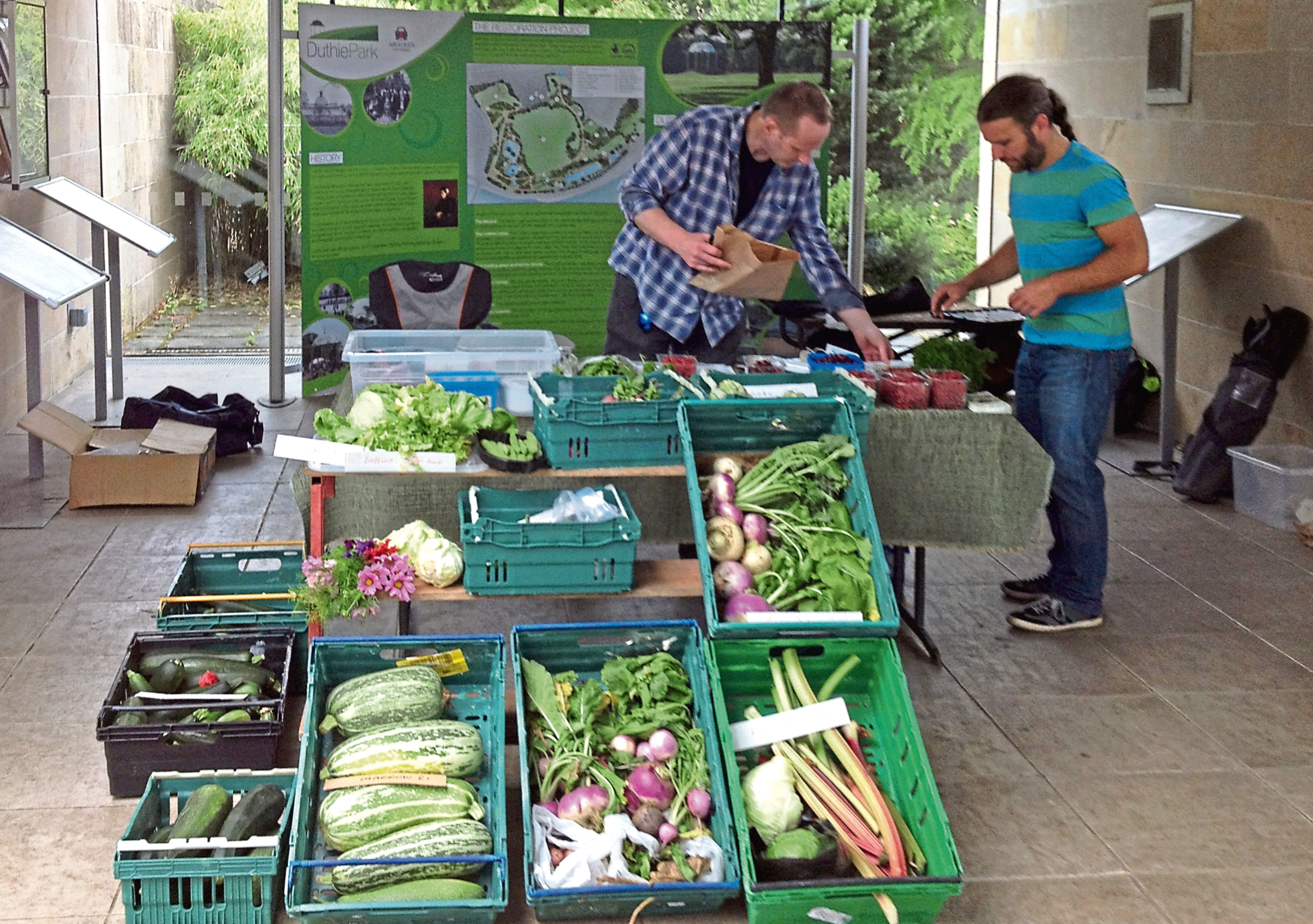 The Allotment Market Stall will be in Seaton Park every Friday from July 24