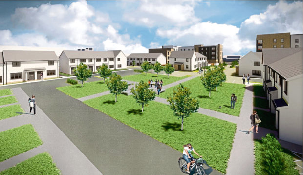 An artist's impression of North Anderson Drive on the site of the former fire station
