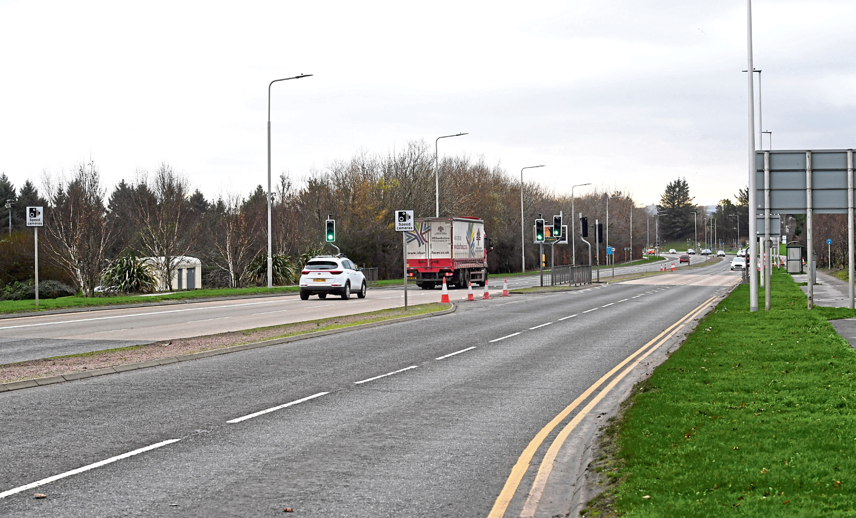 A number of sets of traffic lights on the section of the Ellon Road near the AECC were installed to help high volumes of pedestrians cross safely.