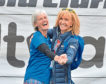 Judy murray and Jackie Bird at the Kiltwalk in Glasgow