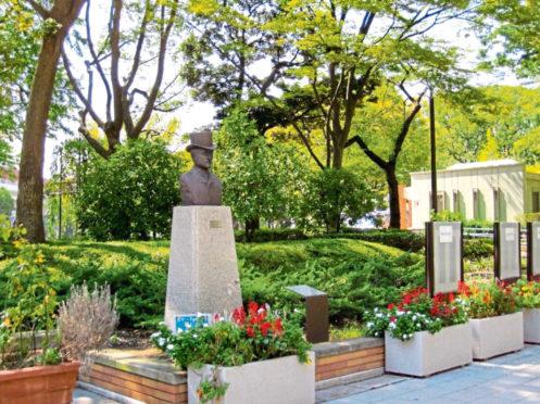 The statue in Yokohama of Richard Henry Brunton