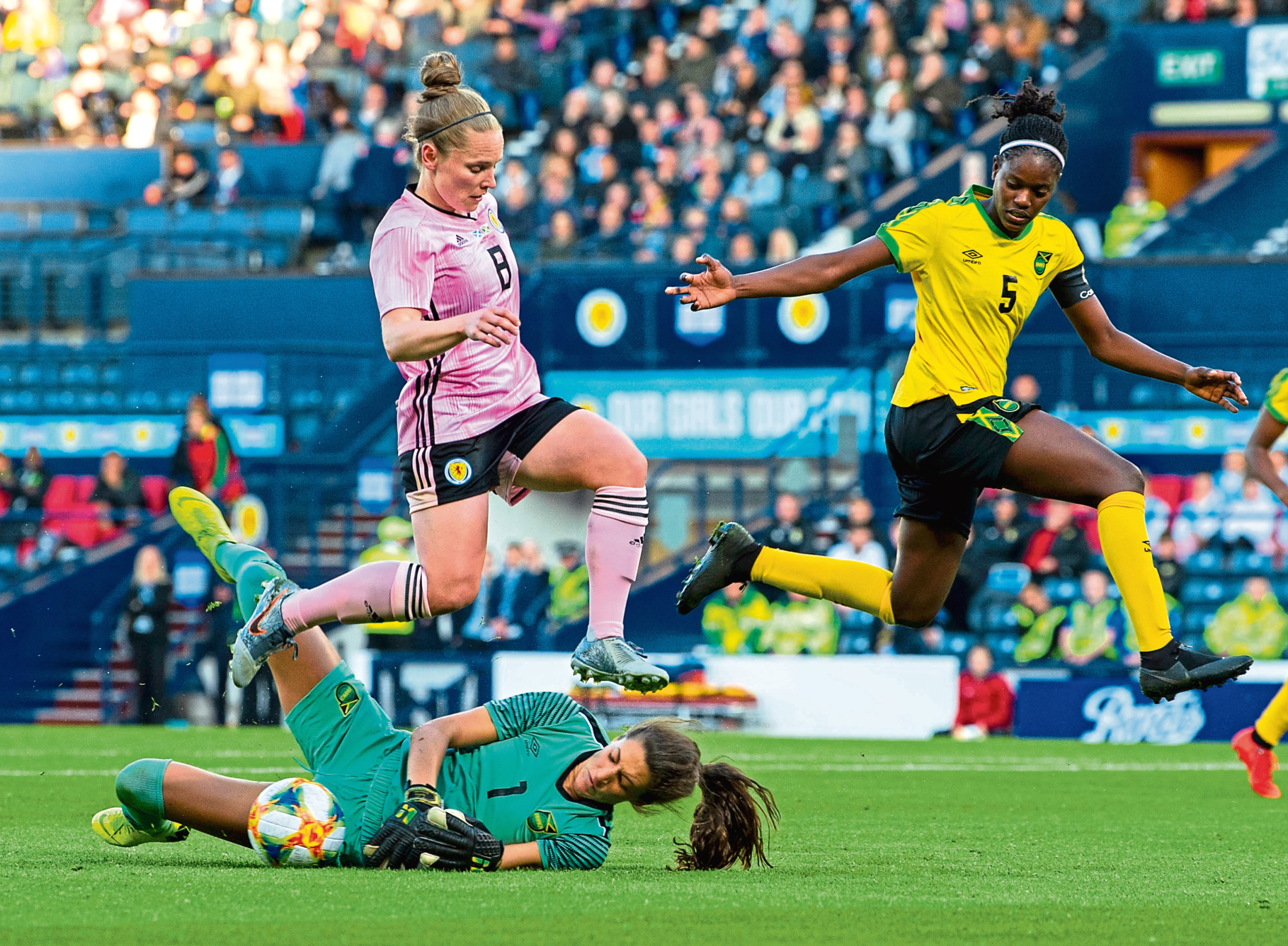 My friend and Scotland Kim Little team mate in action for the national team against Jamaica