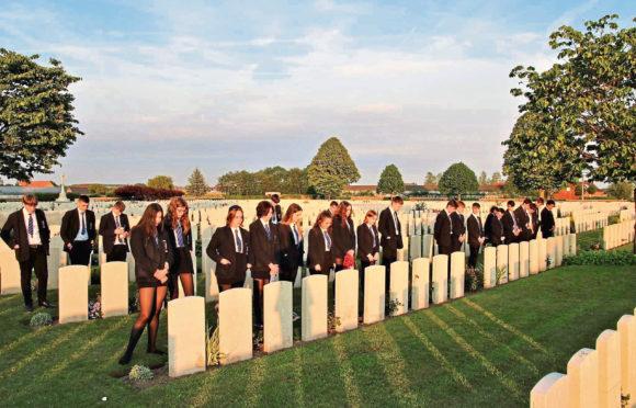 Pupils from Aberdeen Grammar have been visiting battlefields in Belgium