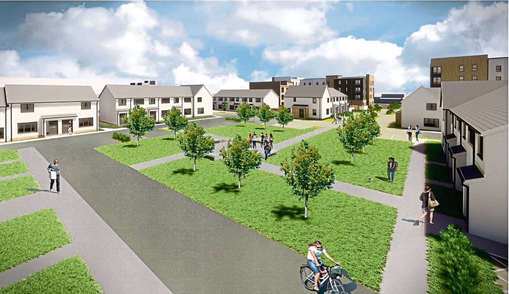 An artist's impression of the plans for the housing complex