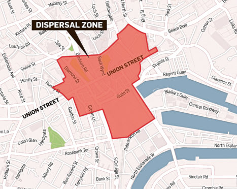 Aberdeen Dispersal zone