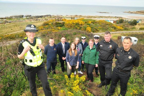 Inspector Kerry Rigg and representatives from partner organisations