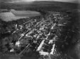 An aerial view of the town of Fochabers in 1948