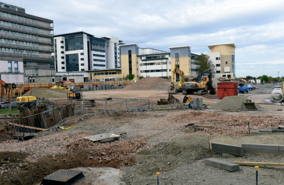 Groundworks at the site are nearing completion