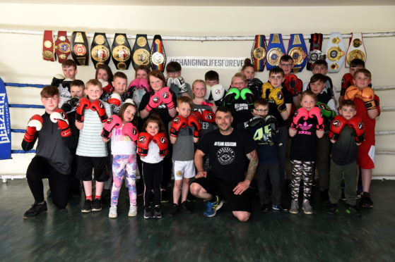 Aberdeen Assassin Lee McAllister's new boxing gym at Balgownie Sports Pavilion, Bridge of Don.