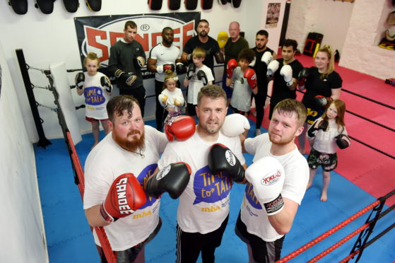Brothers Craig, Sean and Aaron Robertson have organised a seven hour spar-a-thon on Saturday to raise money for mental health awareness in conjunction with Mental Health Awareness Week.