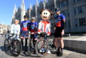 Pictured are, from left, Councillor Jenny Laing, Tom Gelati, the OVO Mascot, David Reed and Jamie Davidson at Launch of the Aberdeen leg of the OVO Energy Tour Series. The 2019 event takes place on May 16 and features elite professional cycling alongside amateur categories contested by local competitors Picture by Darrell Benns