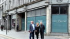 Allan Henderson, Jillian Miller and Alan Aitken of McGinty's at the site