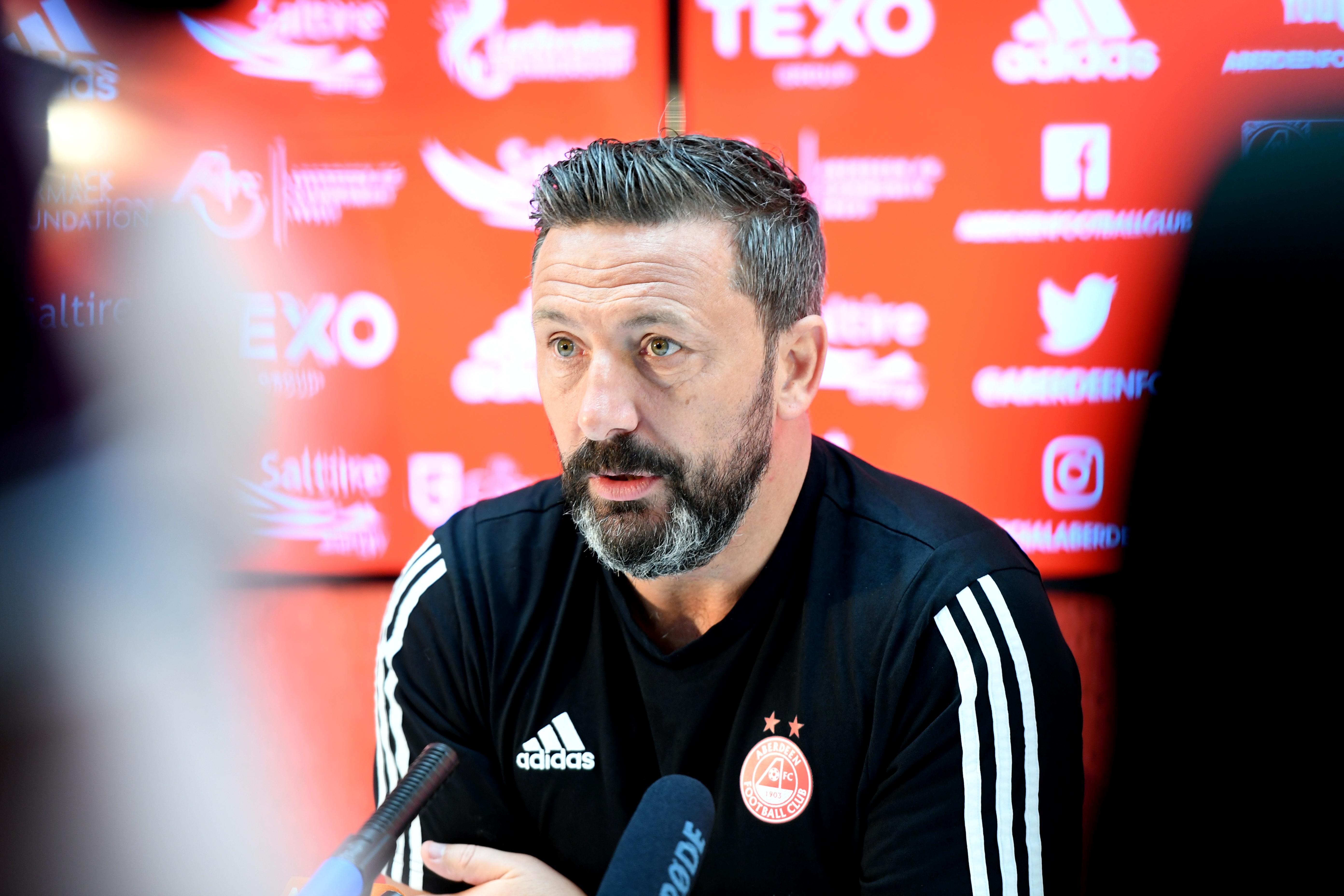 Aberdeen manager Derek McInnes.   Picture by Scott Baxter    17/05/2019