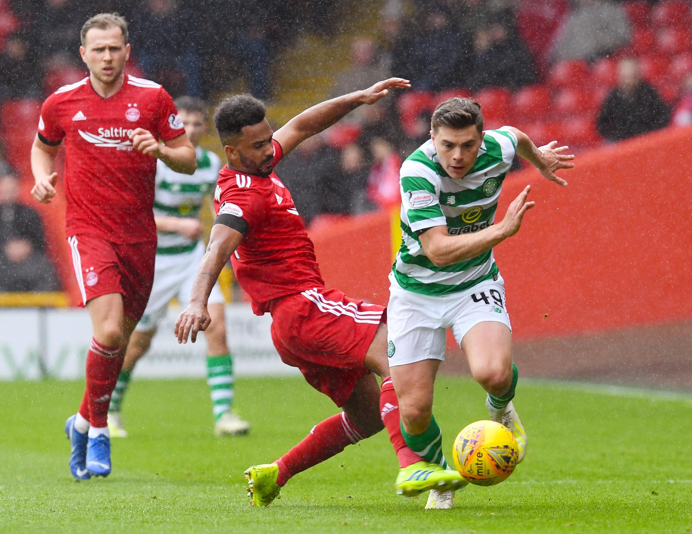 Aberdeen's Shay Logan in action.