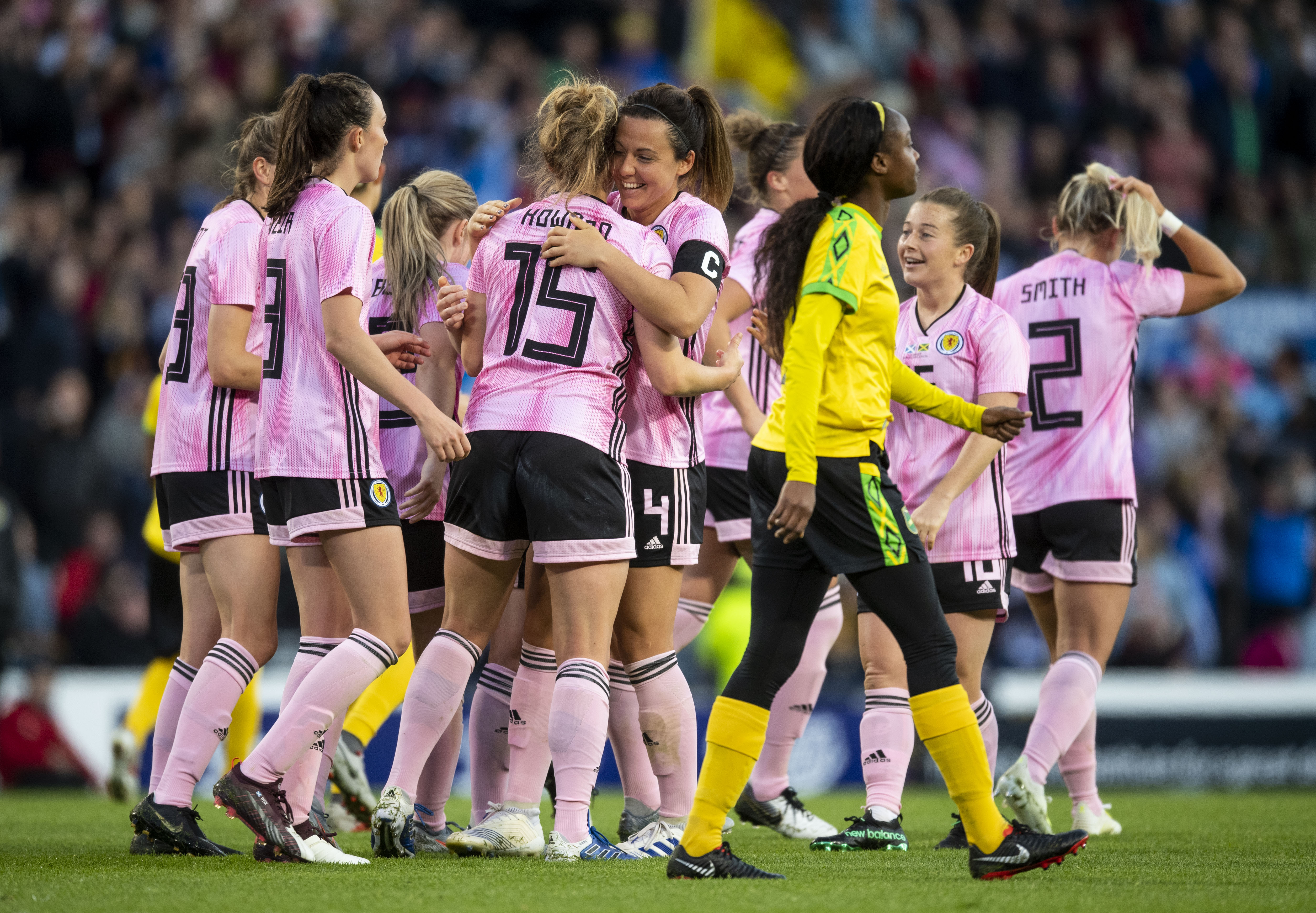 Scotland's women have contributed to a donation made by both the men's and women's national teams.