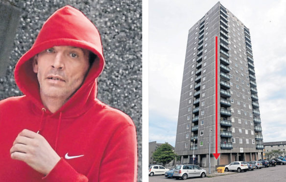 Thomas Moore, 42, had been helping pals clear out a flat after a relative had passed away when he committed the offence