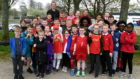 Westpark's athletics club with Nigel O'Neill, rear