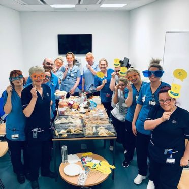 A nurses day tea party held for Wards 110 and 111 at Aberdeen Royal Infirmary