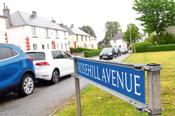 Rosehill Avenue, Aberdeen, where the gang was spotted.