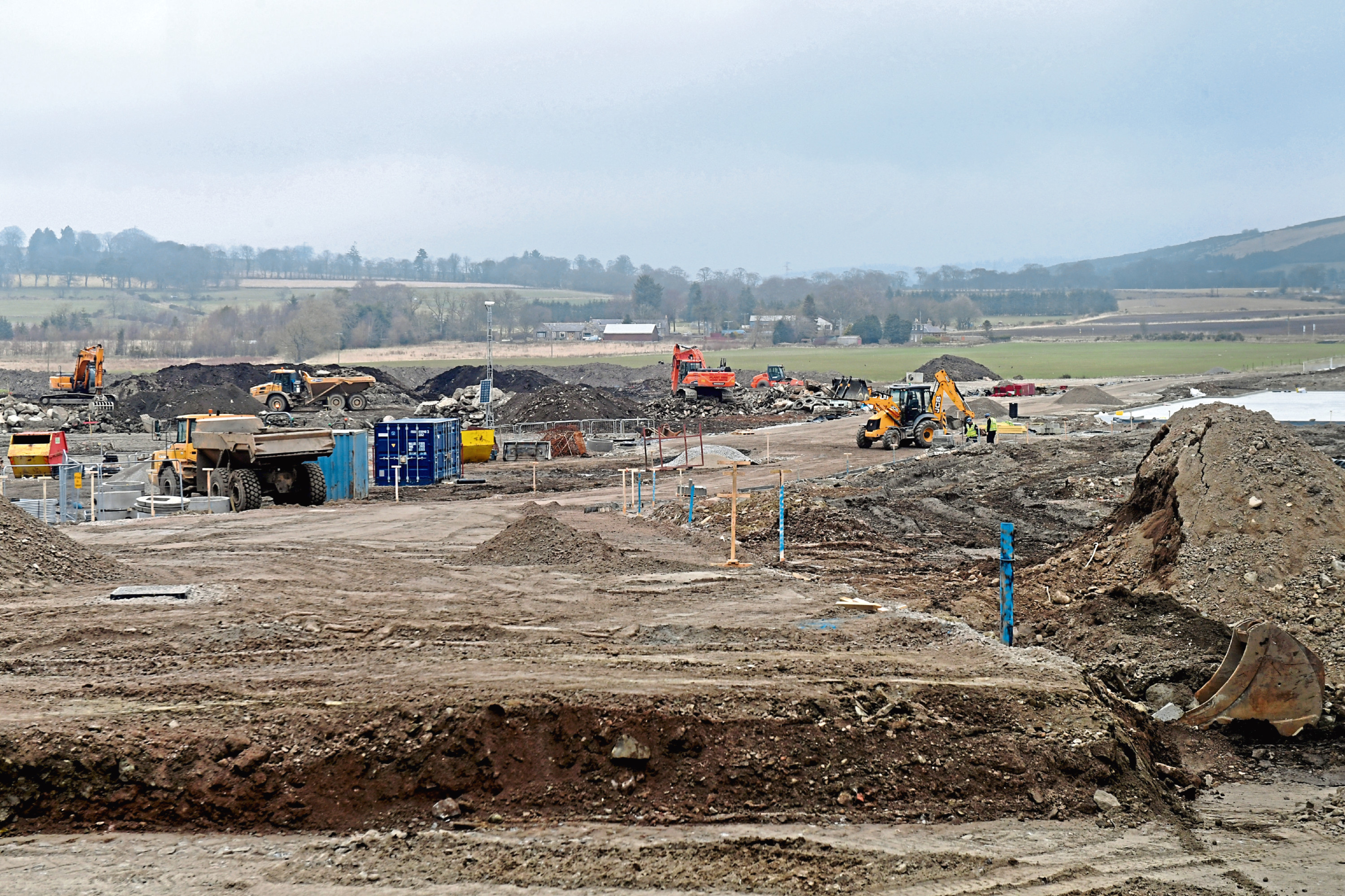 Work at the Kingsford site.  Picture by Kath Flannery
