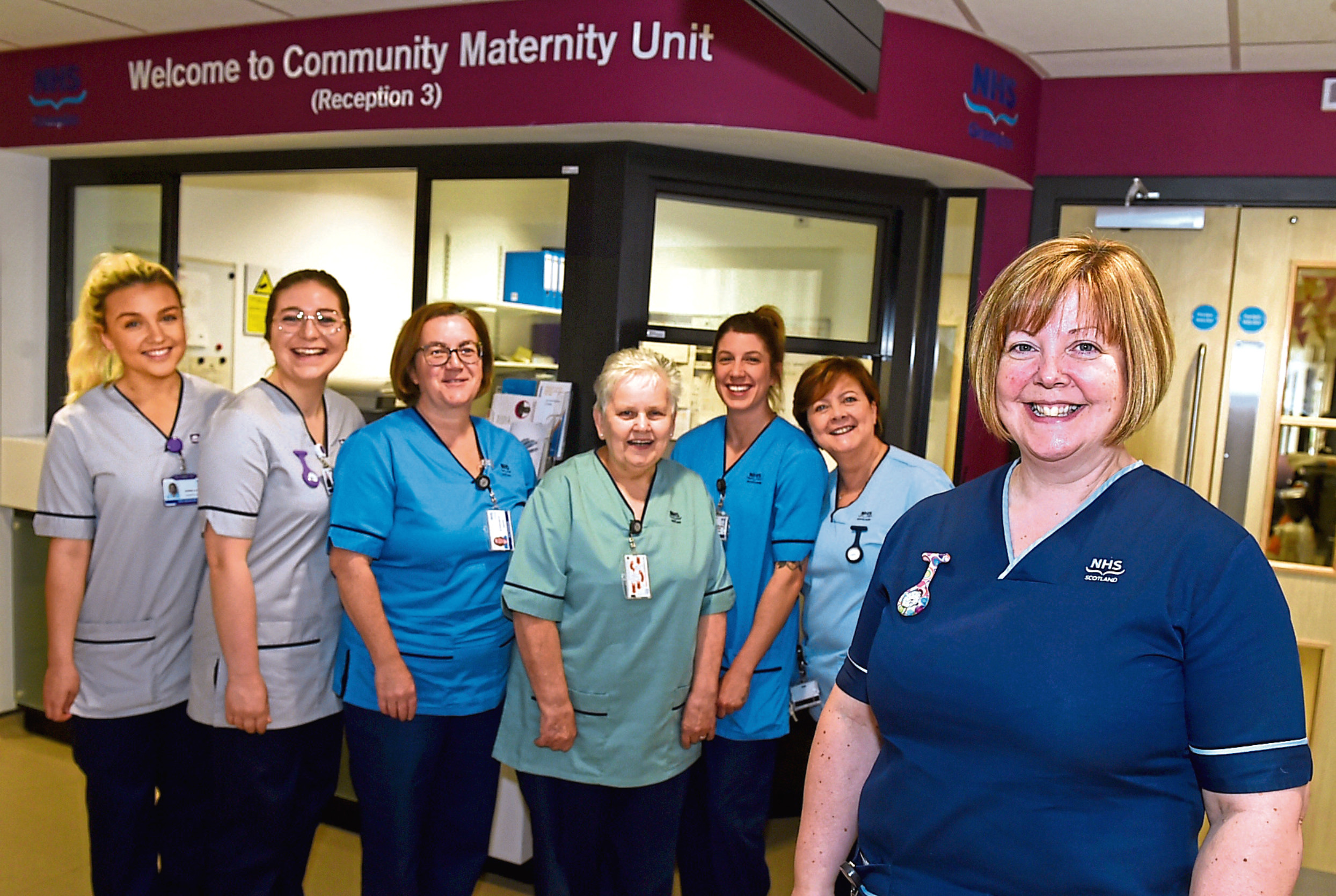 The maternity team at the new Inverurie unit