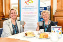 Luan Grugeon, left, head of endowments at NHS Grampian and Sheena Lonchay enjoy a very welcome cuppa and a selection of cakes