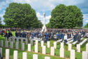the royal British Legion held a service of remembrance at the Commonwealth War Graves Commission Cemetery in Bayeux