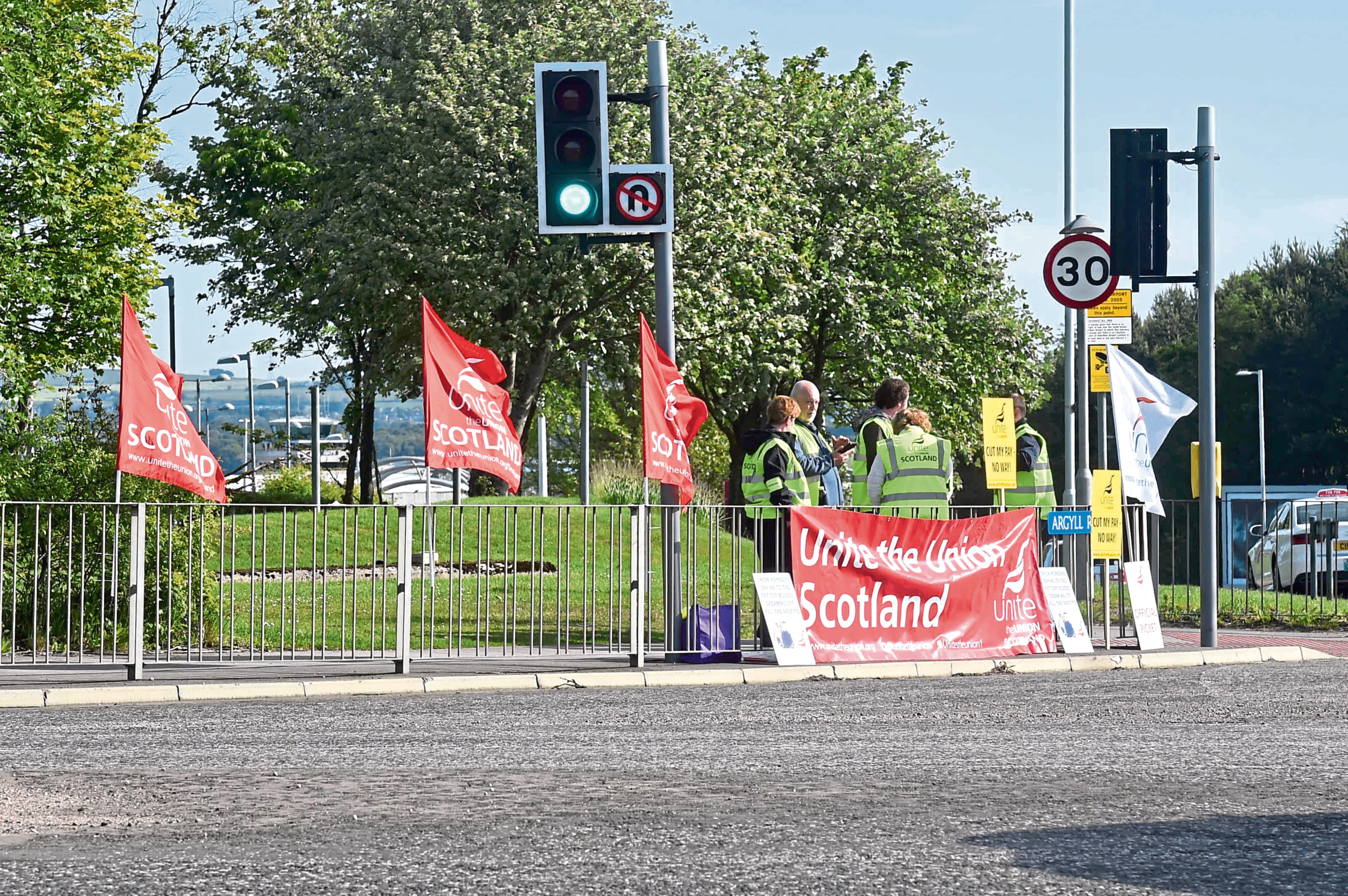 Strike action at Aberdeen airport