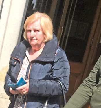 Sandra Angus pictured outside court.