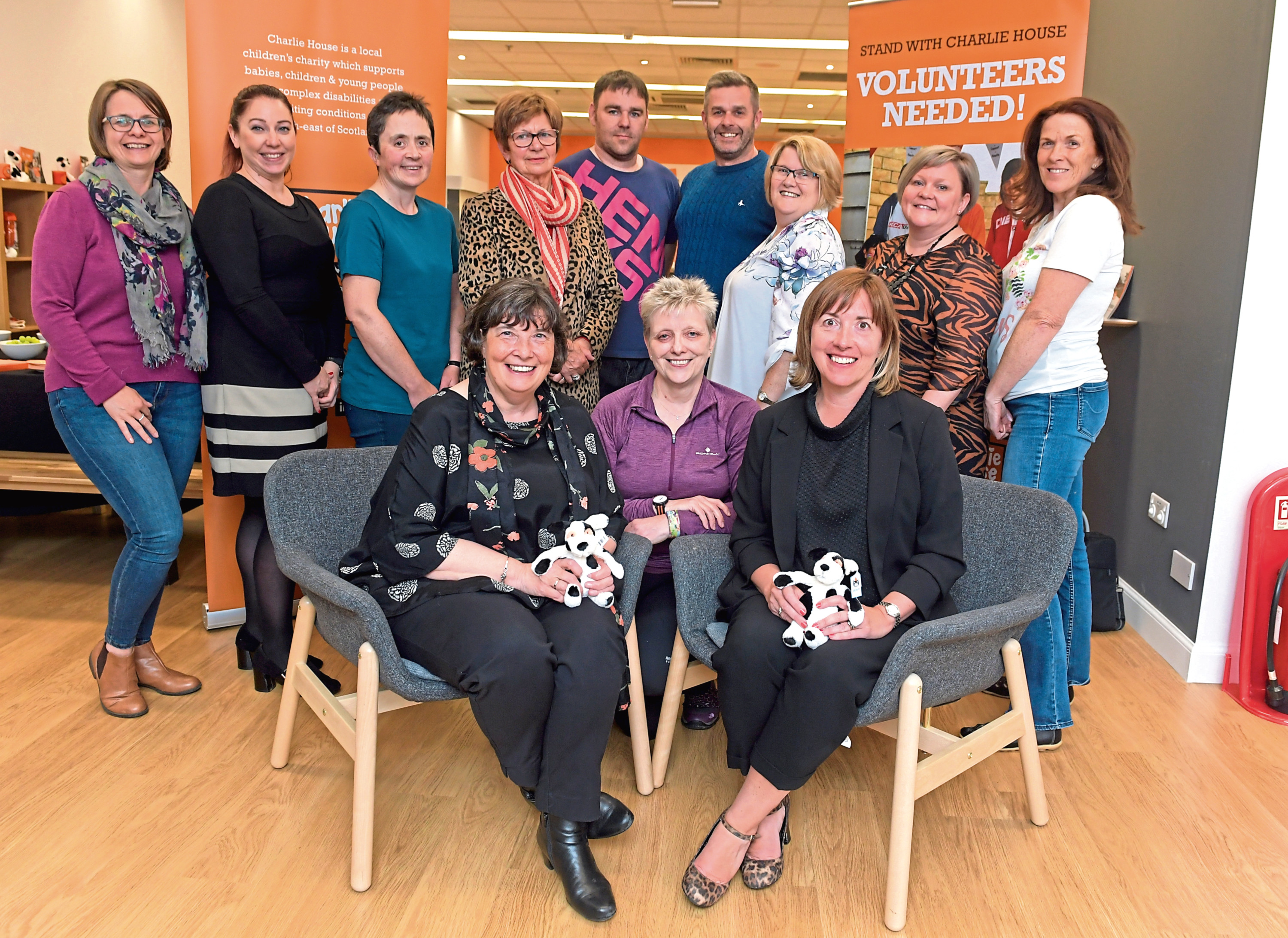 Volunteer information night for Charlie House with volunteer co-ordinator Joan Cowie and director of fundraising Susan Chrighton with volunteer staff.