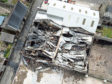 An aerial image of the damage following the blaze at Ricardo's Garage in Fraserburgh. Picture courtesy of Bob Stephen