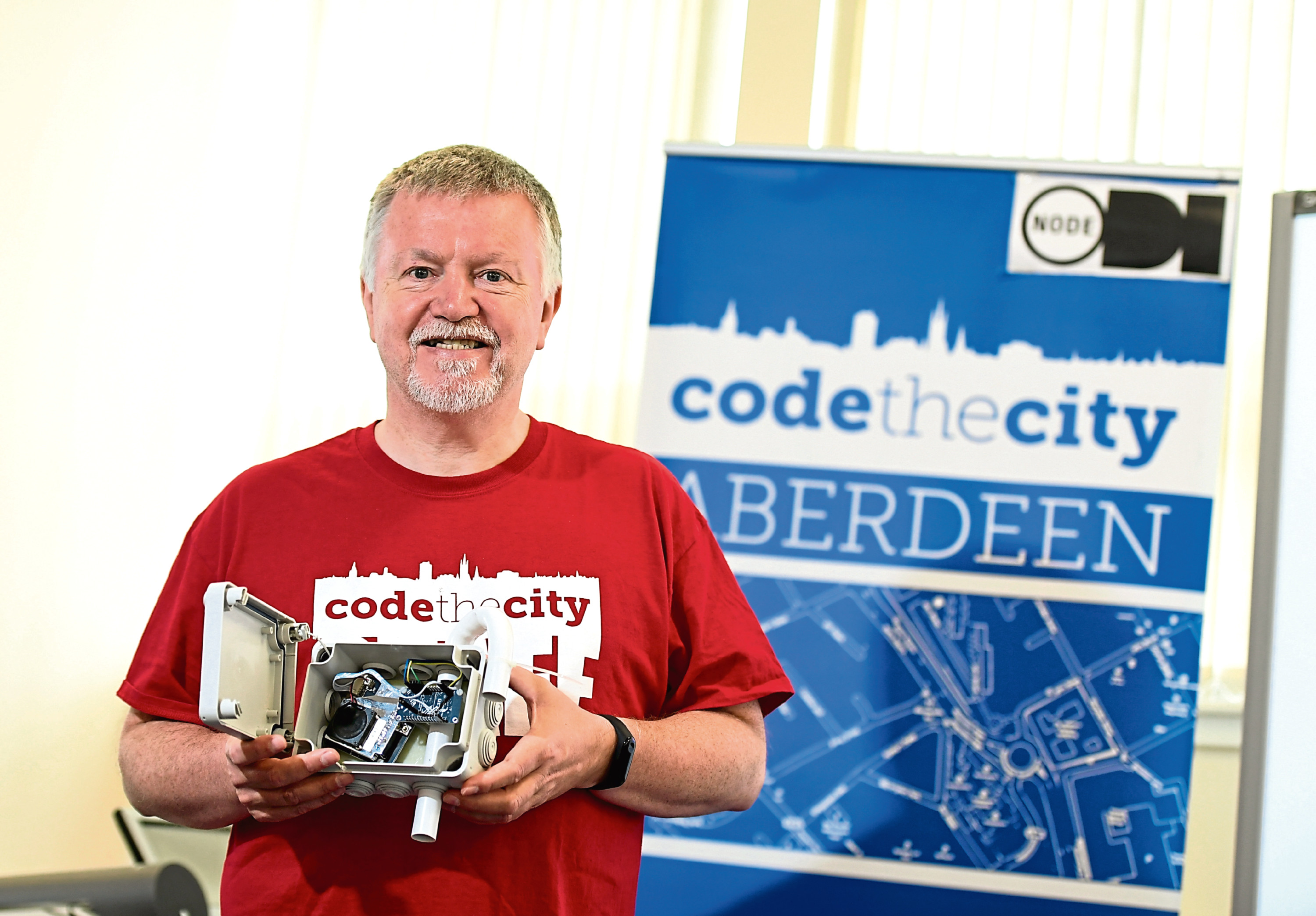 ian Watt who is director of Code the City is helping to lead the campaign for  a cleaner Aberdeen