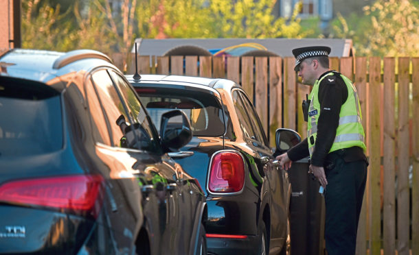 Police checking on residents cars and homes to see if they have been left unlocked