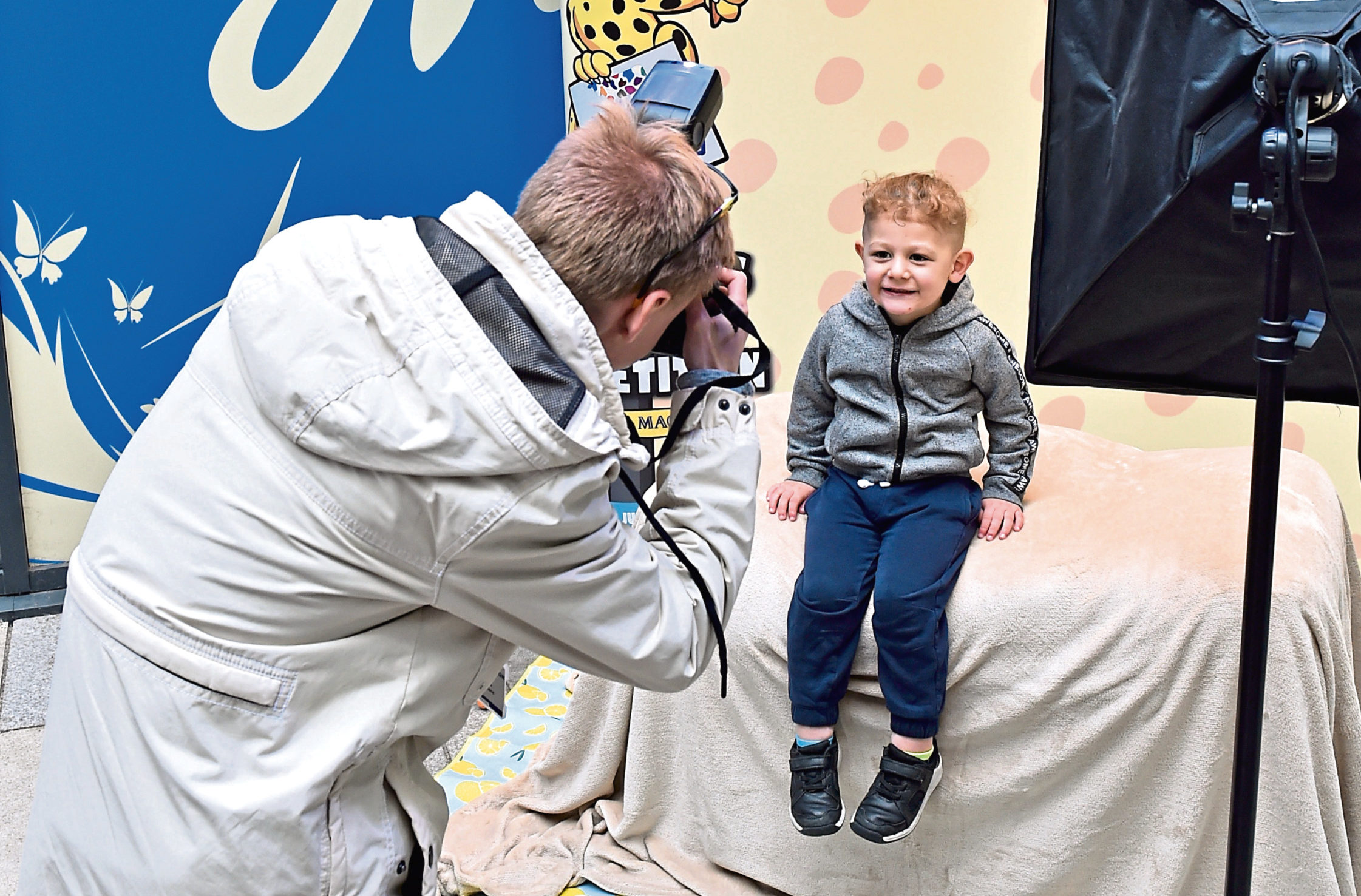 Photographer Lewis Mackland with Logan Tuck, 3