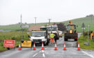 Roadworks on the B999