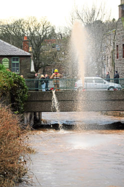 The work aims to prevent flooding in Stonehaven
