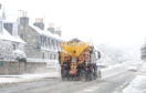 A snow plough makes it's way through Alford, Aberdeenshire  Snow pictures 23/02/2017  by Julia Sidell    Weather storm