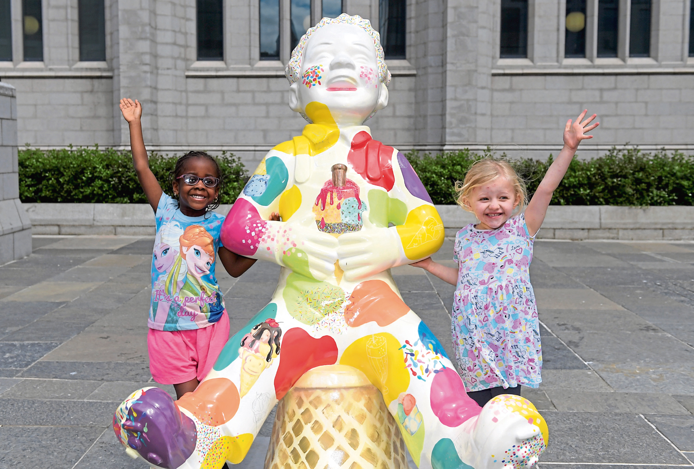 Eki-Amina Umweni and Millie McQueen at We All Scream for Ice Cream