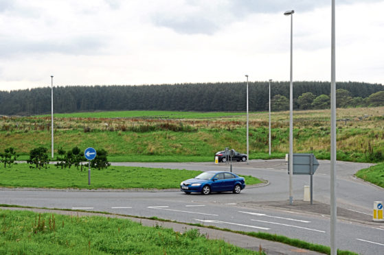 A possible site for the park and ride facility at Portlethen