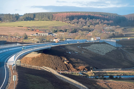A section of the Aberdeen bypass