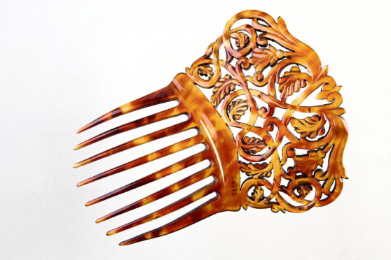 Ornate fretwork back comb, dating from about 1890