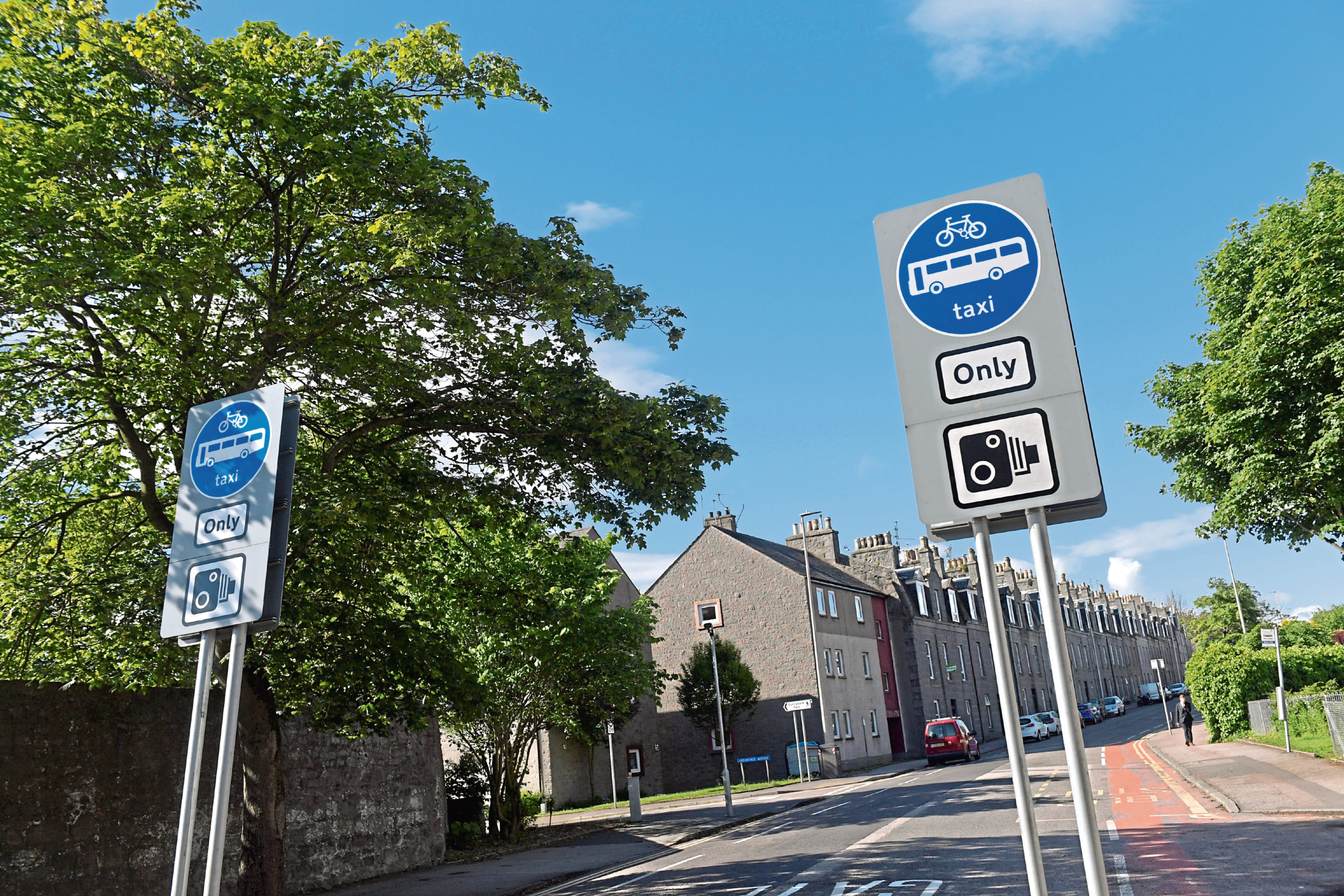 Signs have been put in place at the bus gate, six months after a public consultation was held