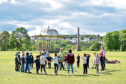 Some of the children playing in the Duthie Park as part of the longest day