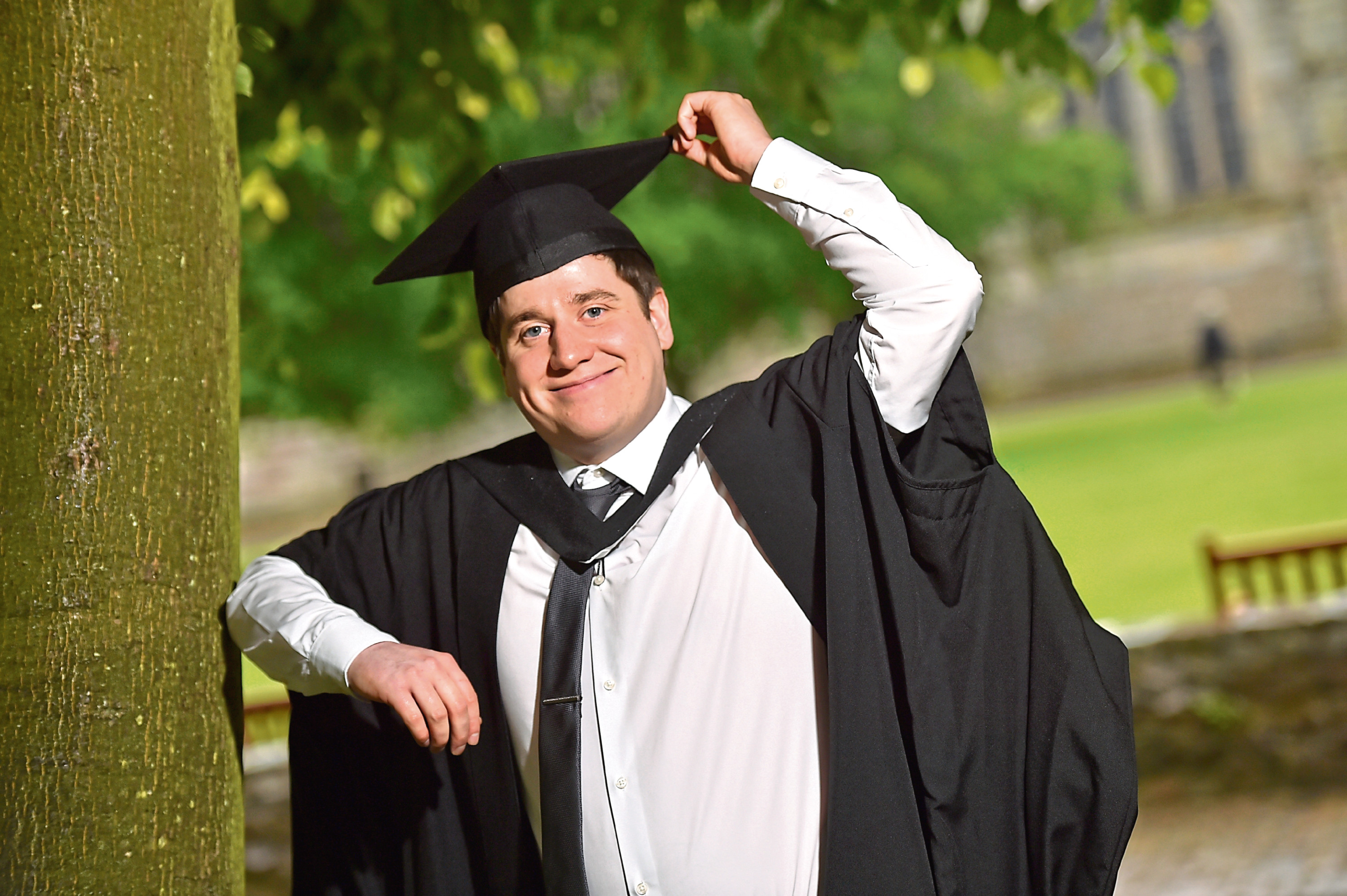 Graduate Ross Shepherd's next step is a master's degree at Glasgow University