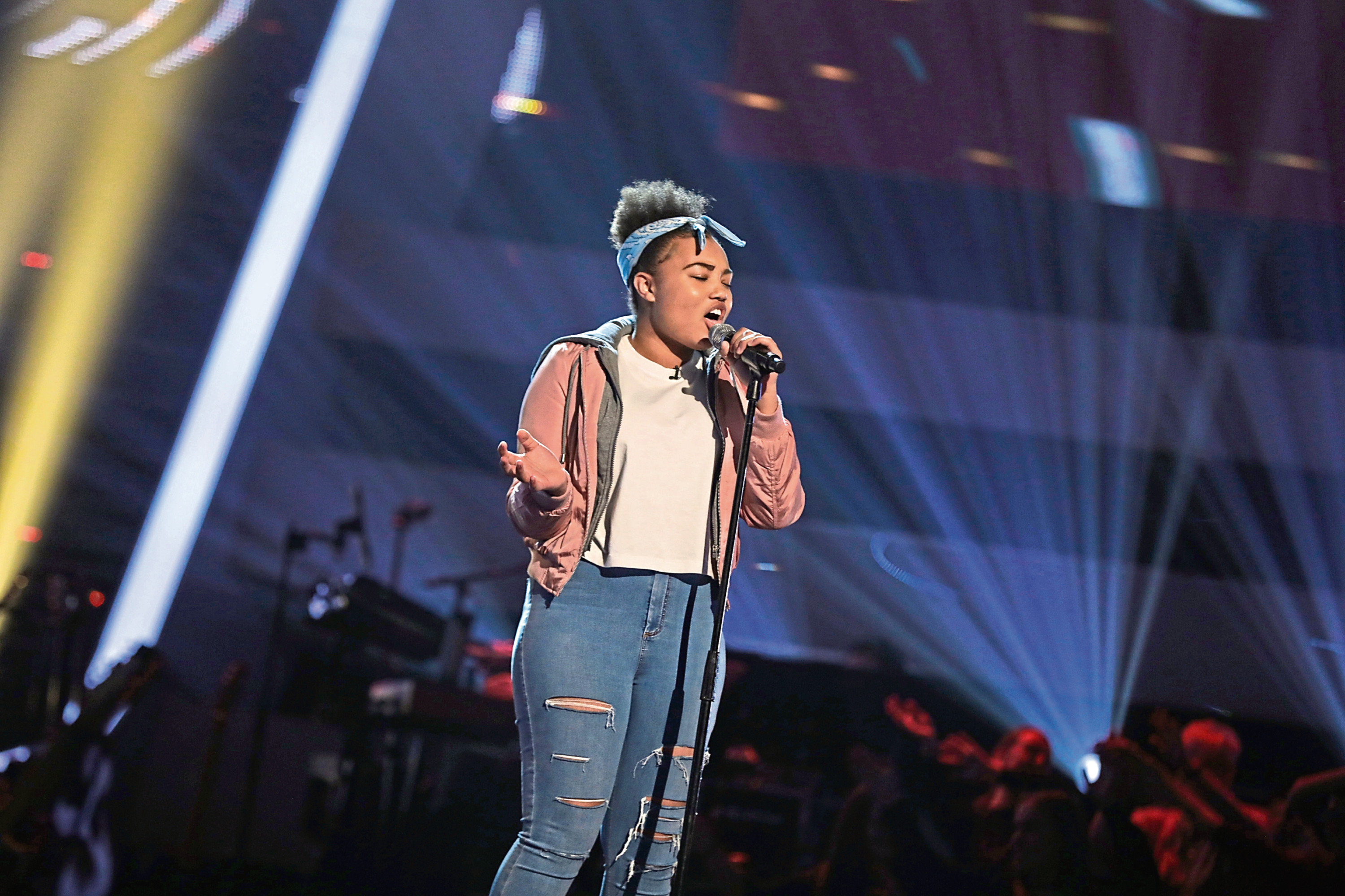 Aiysha Russell, 14, from Drumoak, appeared on The Voice Kids