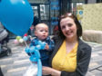 Chelsea Laird, 27, and her son, one-year-old Tyler